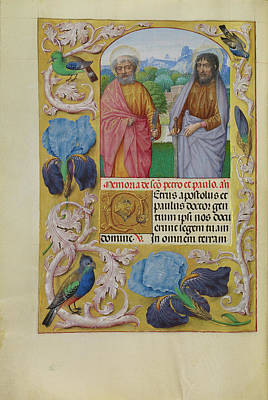 Prayer Drawing - Saints Peter And Paul Workshop Of Master Of The First by Litz Collection