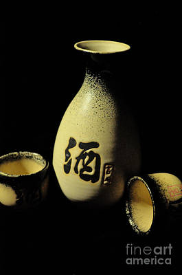 Sake Bottle Photograph - Sake Bottle And Cups by Lian Tan