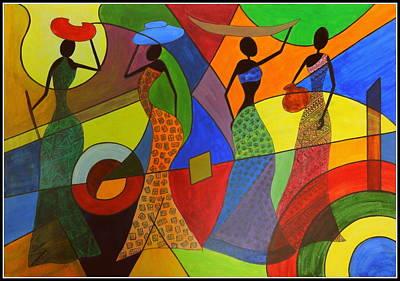 Painting - Sakhiyaan by Tanya Anurag