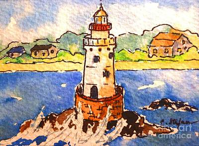 Painting - Sakonnet Lighthouse - Rhode Island - Usa by Cristina Stefan
