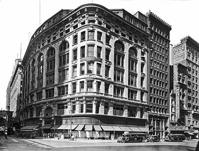 Photograph - Saks-herald Square Dept. Store by Underwood Archives