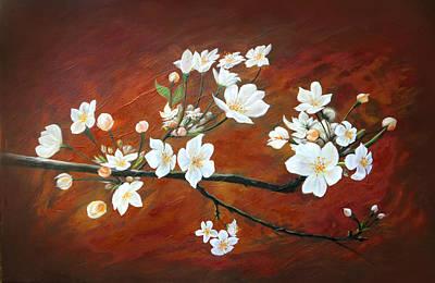Sakura Painting - Sakura by Angel Ortiz