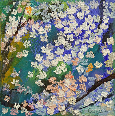 Flores Painting - Sakura Oil Painting by Michael Creese