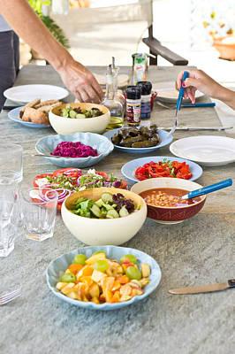 Salad Dishes Art Print
