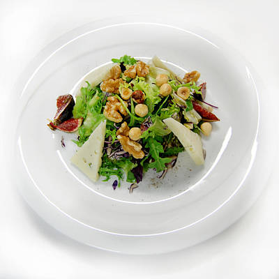 Salade Photograph - Salade With Nuts by Gina Dsgn