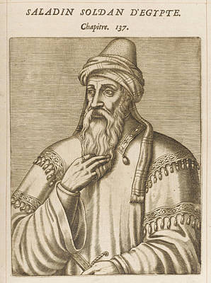 Saladin Drawing - Salah Ad-din Yusuf Ibn Ayyub by Mary Evans Picture Library