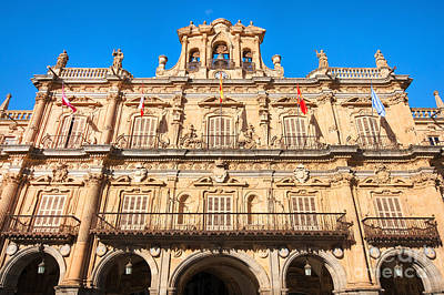 Photograph - Salamanca Town Hall by JR Photography