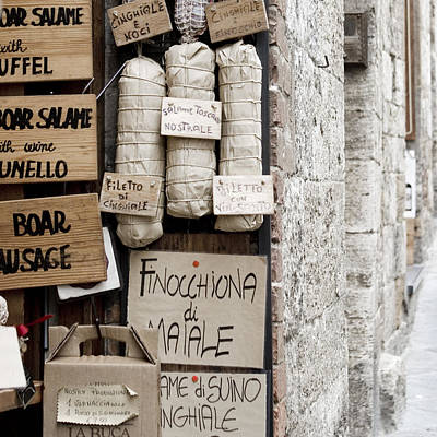 Photograph - Salame - Tuscany by Lisa Parrish