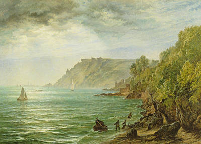 Rays Painting - Salcombe Estuary, South Devon, 1882 by Henry Dawson