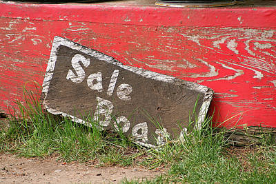 Message Art Photograph - Sale Boat by Art Block Collections