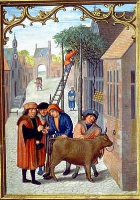 Sale Of A Bull, C1515 Art Print