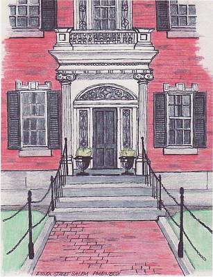 Salem Essex Street Front Door Art Print by Paul Meinerth