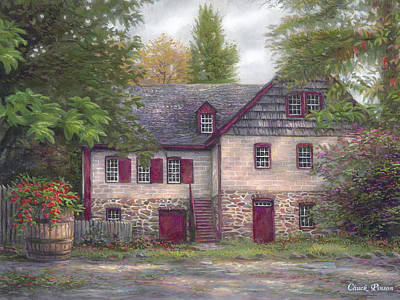 Antiques Painting - Salem House by Chuck Pinson