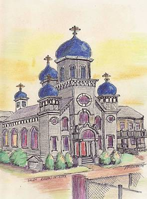 Salem Orthodox Church Art Print by Paul Meinerth