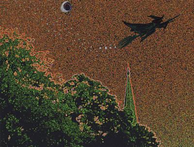 Digital Art - Salem Witch Moon 1 by First Star Art