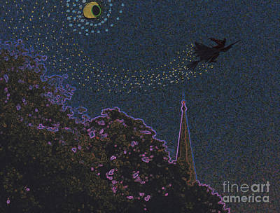 Salem Witch Moon 2 By Jrr Art Print by First Star Art