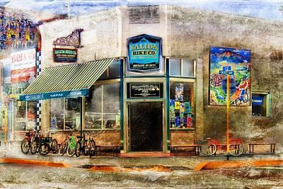 Arkansas Painting - Salida Bike Co by Barbara Chichester