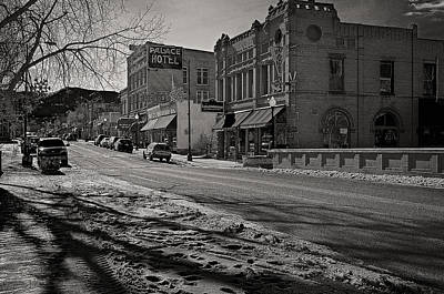 Mixed Media - Salida Hotels In B-w by Charles Muhle