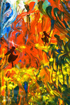 Art Print featuring the painting Salient Celebration by Ron Richard Baviello