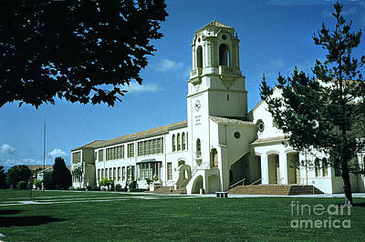 Photograph - Salinas High School California  Circa 1955 by California Views Archives Mr Pat Hathaway Archives