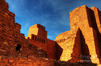 Salinas Pueblo Abo Mission Golden Light Art Print by Bob Christopher