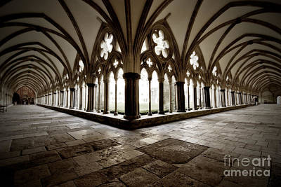 Photograph - Salisbury Cathedral Cloisters by Terri Waters