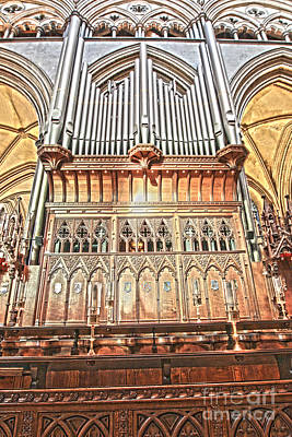Photograph - Salisbury Cathedral Organ by Terri Waters