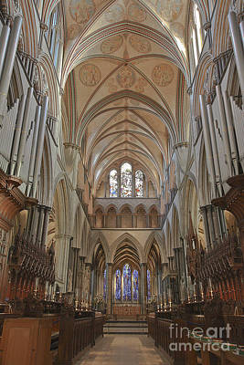 Photograph - Salisbury Cathedral Quire And High Altar by Terri Waters