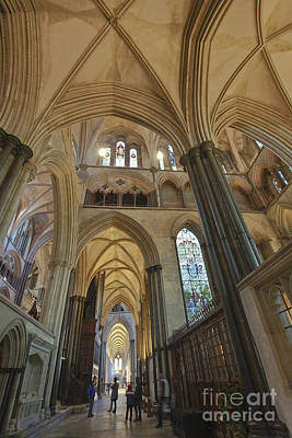 Photograph - Salisbury Cathedral South Aisle by Terri Waters