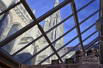 Photograph - Salisbury Cathedral Spire From The Shop by Terri Waters