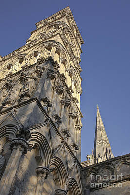Photograph - Salisbury Cathedral West Front And Spire by Terri Waters