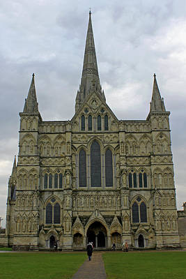 Photograph - Salisbury Cathedral West Front by Tony Murtagh
