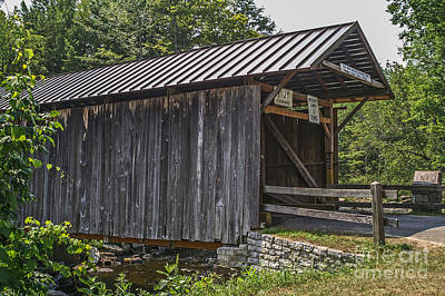 Photograph - Salisbury Center Covered Bridge by Sue Smith