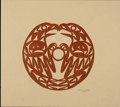 Salish Eagles Art Print by Roger Fernandes  Lower Elwha tribe