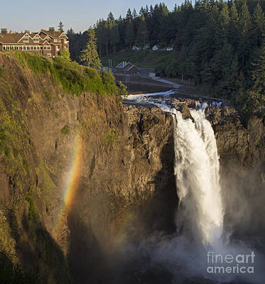 Photograph - Salish Lodge And Snoqualmie Falls  by Sonya Lang