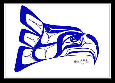 Salish Seahawks Logo Art Print by Speakthunder Berry