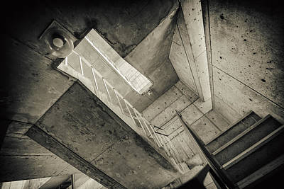 Photograph - Salk Staircase by Alan Roberts