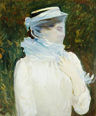 Shrouded Painting - Sally Fairchild by John Singer Sargent