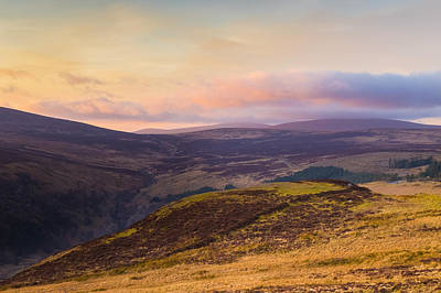 Photograph - Sally Gap In Wicklow Mountains At Sunset by Semmick Photo