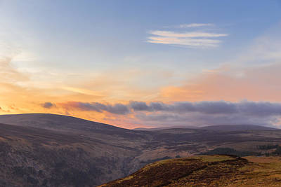 Photograph - Sally Gap In Wicklow Mountains At Twilight by Semmick Photo