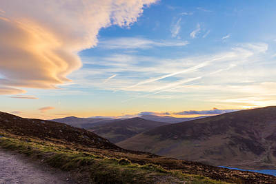 Photograph - Sally Gap In Wicklow Mountains In The Evening by Semmick Photo