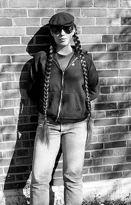 Photograph - Sally In Braids 1979 by Ed Weidman