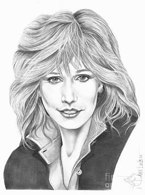 Famous People Drawing - Sally Kellerman by Murphy Elliott