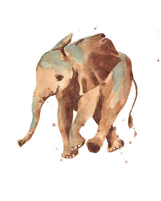 Other Painting - Sally Softly Elephant by Alison Fennell