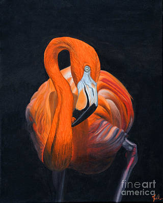 Sally The Flamingo Art Print