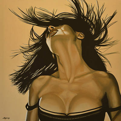 Painting - Salma Hayek by Paul Meijering