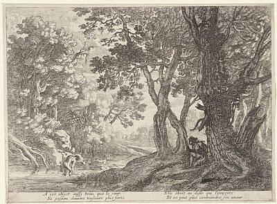 Love Poem Drawing - Salmacis And Hermaphrodite, Anonymous, Herman Van Swanevelt by Herman Van Swanevelt And Pierre Drevet