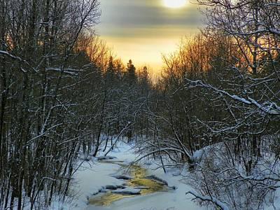 Brrok Photograph - Salmon Brook Sunset by Gene Cyr