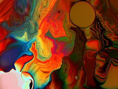 Unreal Digital Art - Salmon Chanted Evening by Jim Williams