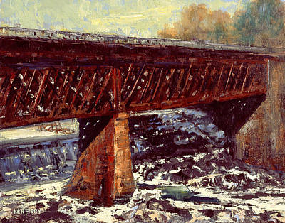 Painting - Salmon Falls Trestle by Ken Fiery